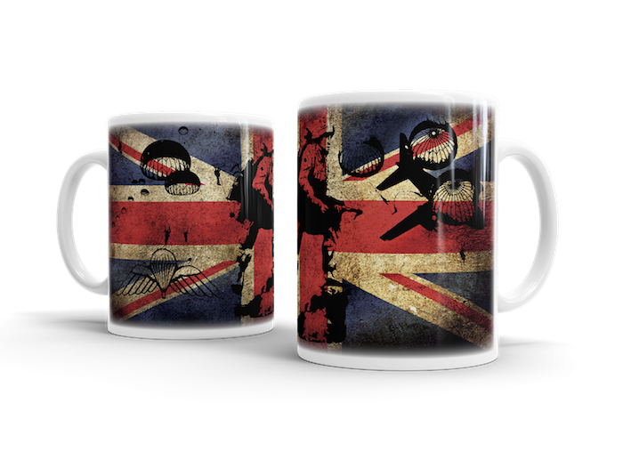 Airborne Forces Warrior What Manner of Men – Union Jack Mug - Pig Emporium