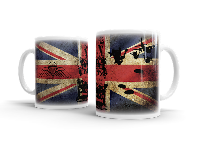 Airborne Forces Pathfinder HALO – Union Jack Mug - Pig Emporium