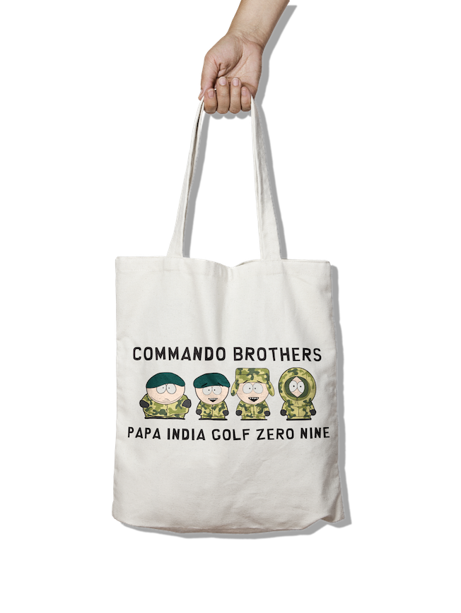 Commando Brothers - PIG09 Tote Bag - Pig Emporium