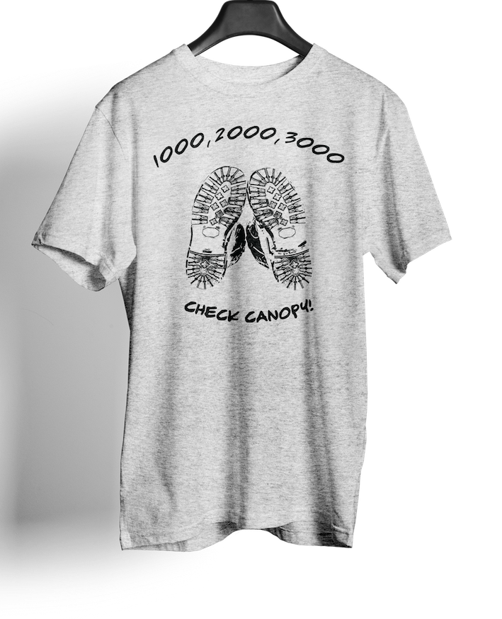 Airborne Forces Check Canopy- Sky Gods T-shirts