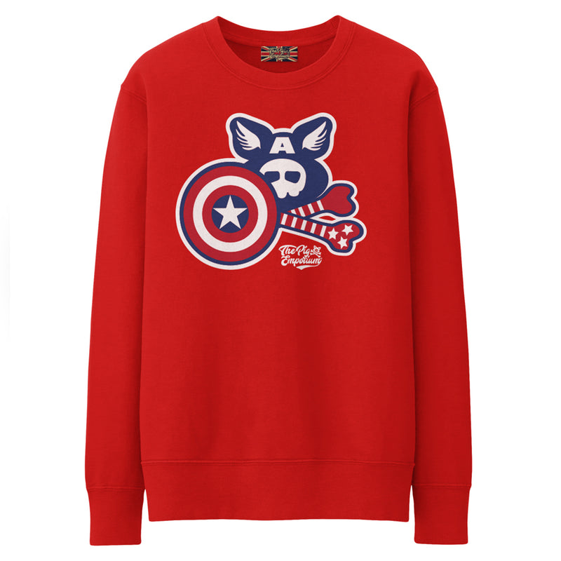 Crossbones Heroes by Pig Jackson - The Captain Crew Sweat