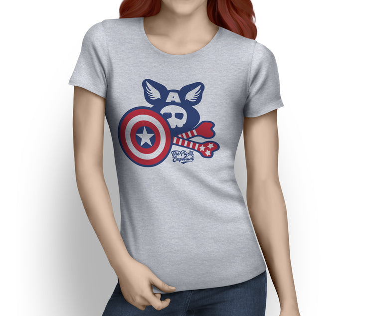 Pig'n'Bones® The Captain - Front Print Ladies T-Shirts - Pig Emporium