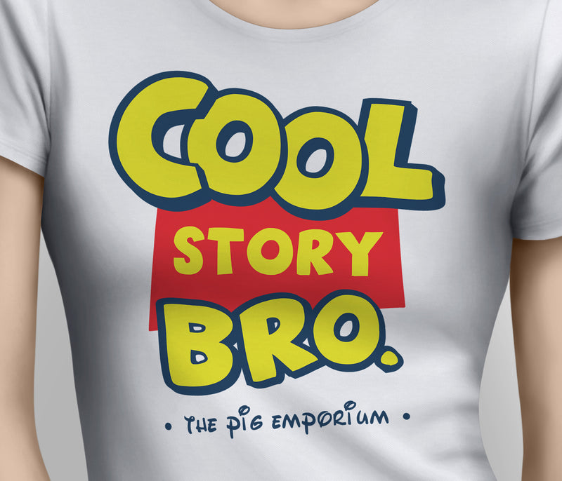 Parody inspired Logo Cool Story Bro - Ladies Tee