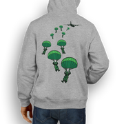 Airborne Forces Parachuting from a C130– Hoody - Pig Emporium