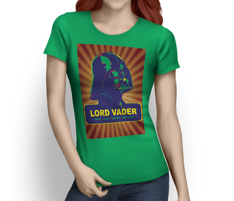 Star Warhol Vader Father, Lover, Teacher, Sith Lord - Ladies Tee
