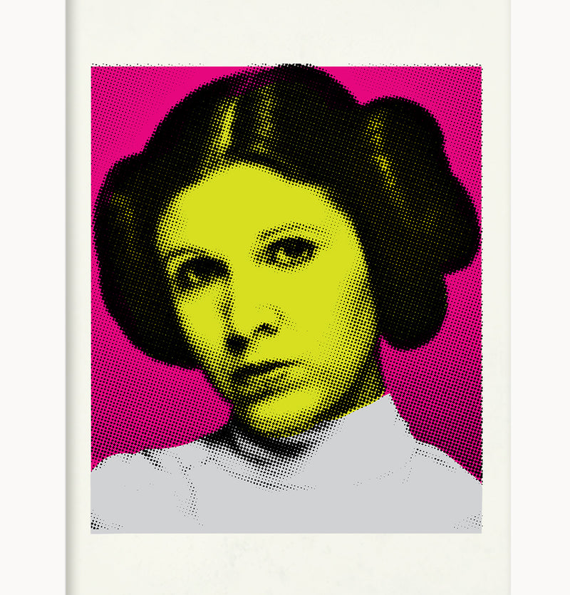 Giclée Print Star Warhol Collection  by Pig Jackson - Leia in the Pink - Pig Emporium
