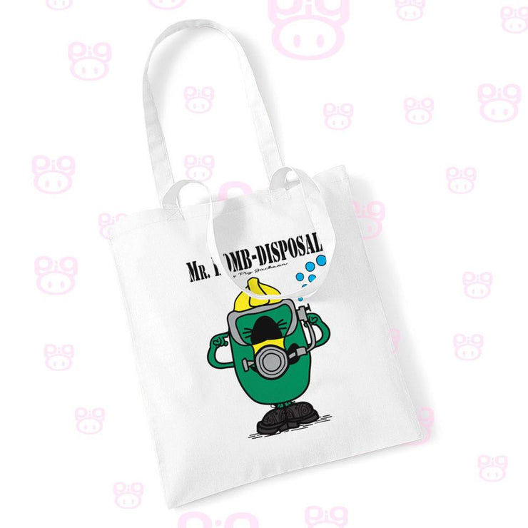 Mr Bomb Disposal Diver Tote Bag - Pig Emporium