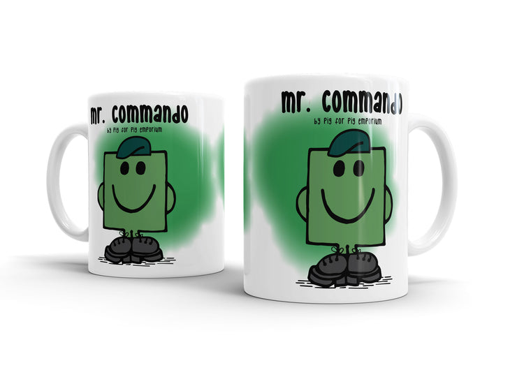 Mr Commando Mean Green Mug - Pig Emporium