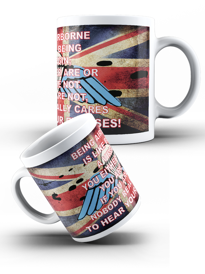 British Airborne Forces - Being Airborne Virgin Wings Mug - Pig Emporium