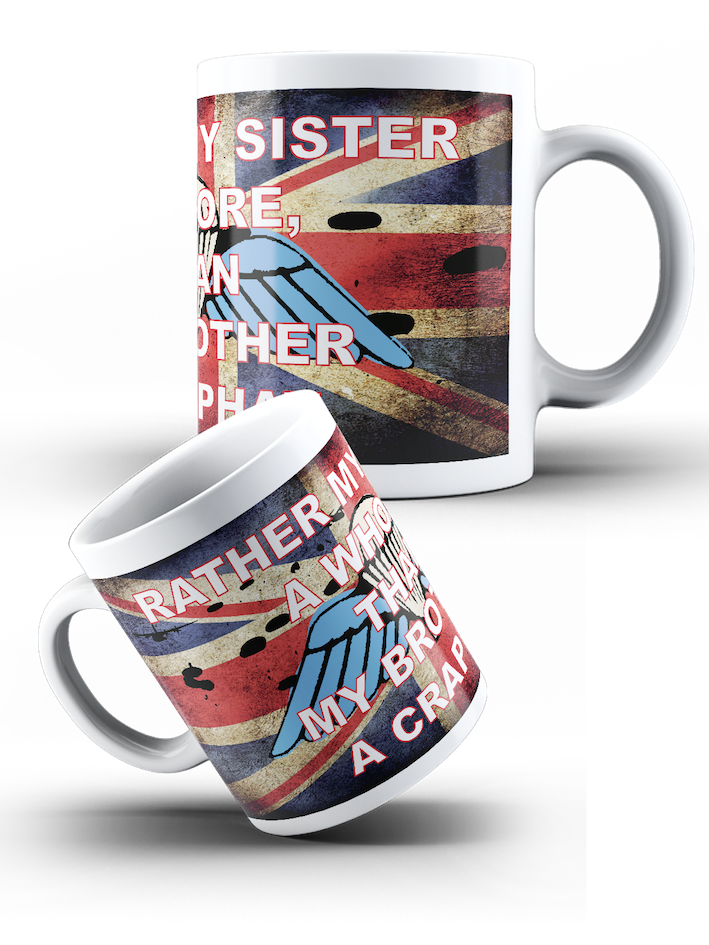 British Airborne Forces - Rather Sister a Whore Airborne Wings Mug - Pig Emporium
