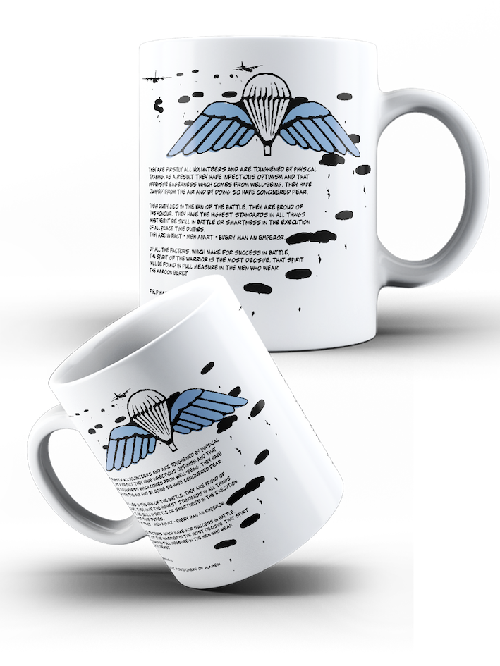 British Airborne Forces - Wings & Parachutes – Charter Scribe Mug