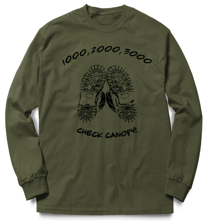 Airborne Forces Check Canopy- Sky Gods Crew Sweat