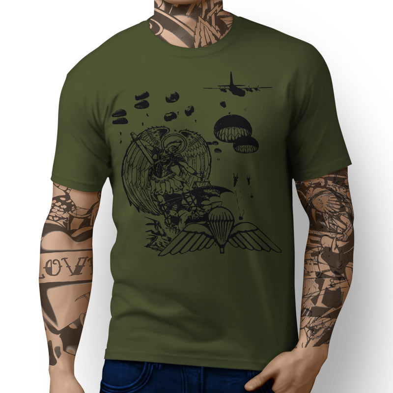 Saint Michael the Archangel - Patron Saint of UK Paratroopers British Wings - T-shirts