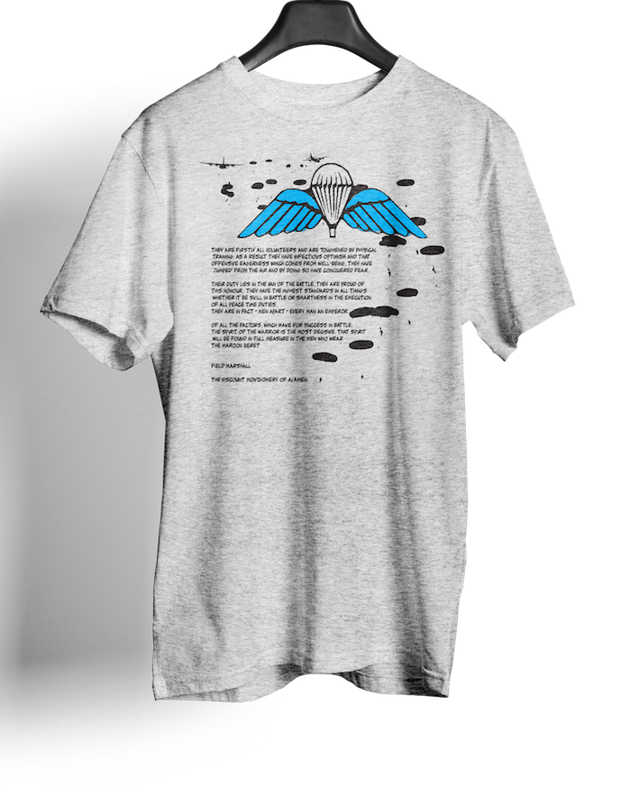 British Airborne Forces - Wings & Parachutes – Charter Scribe - T-shirts - Pig Emporium