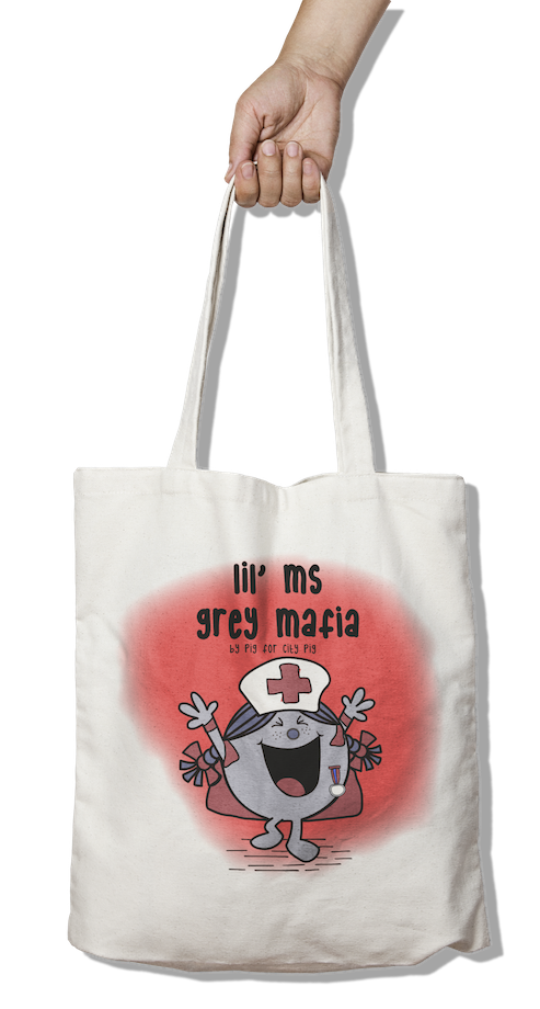 Lil Ms. Grey Mafia Tote Bag - Pig Emporium