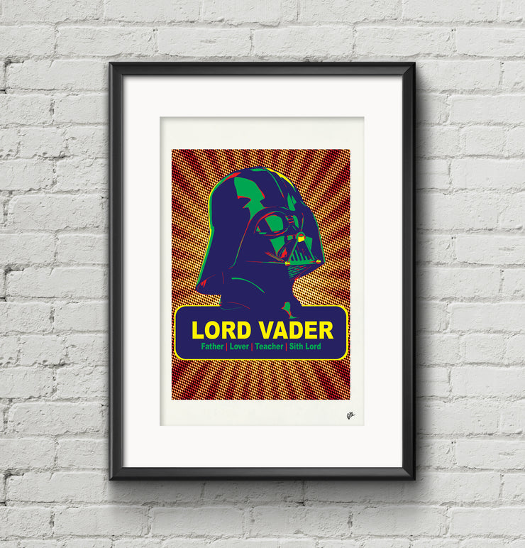 Giclée Print Star Warhol Collection by Pig Jackson - Father, Lover, Teacher, Sith Lord - Pig Emporium