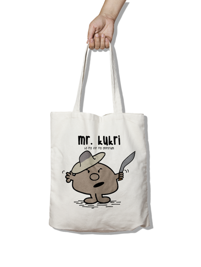 Mr Kukri Tote Bag - Pig Emporium