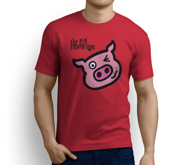 The Pig Emporium Chest Logo & Wink Tee
