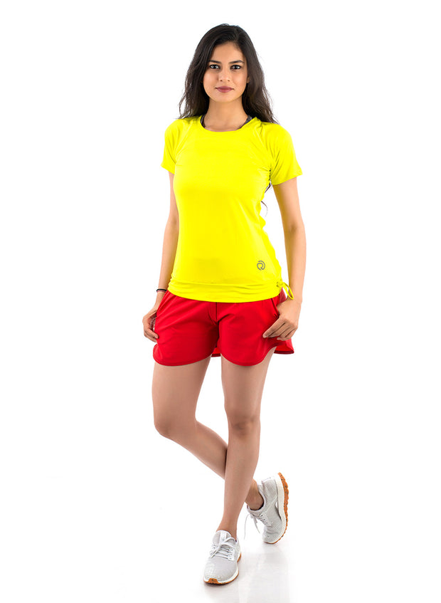 Core Technical Yoga & Training Tee - Yellow