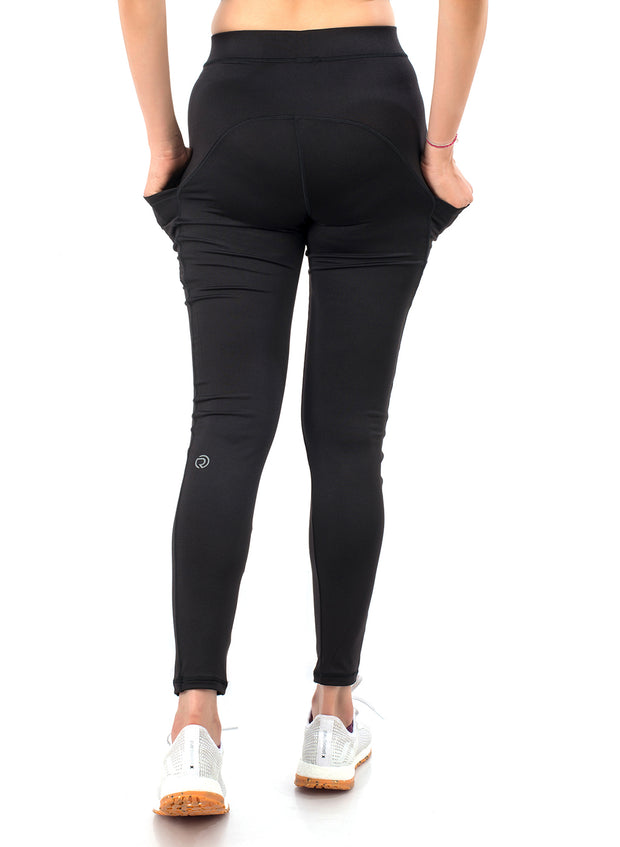 Women's Stretchy Dryfit Legging with 2 Side Pockets