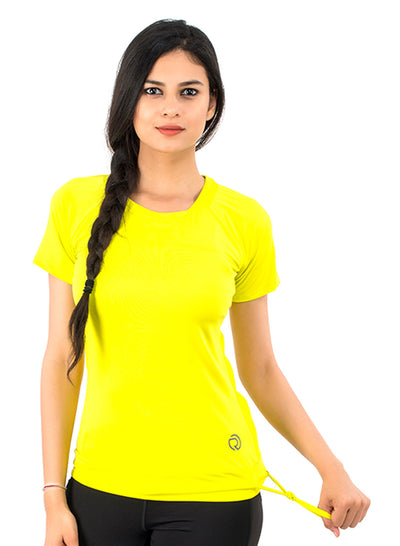 Core Technical Yoga & Training Tee - Yellow - TRUEREVO