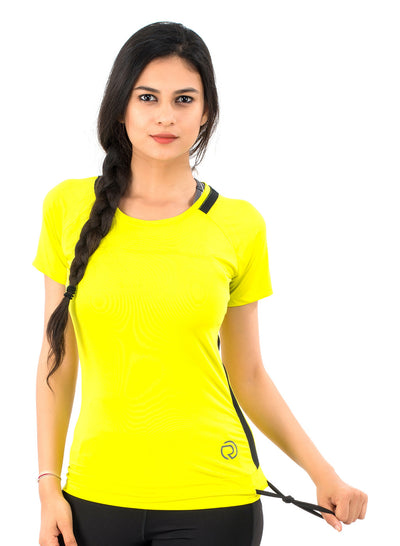 Core Technical Yoga & Training Tee - Neon Yellow & Black