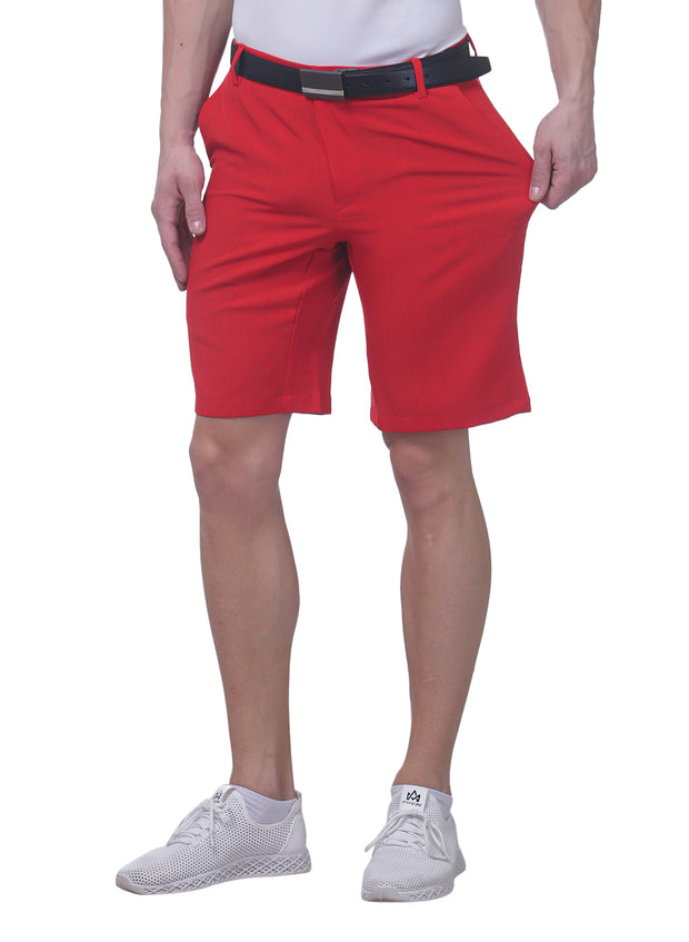 Pro Performance Stretch Golf Shorts - Men's Red - TRUEREVO