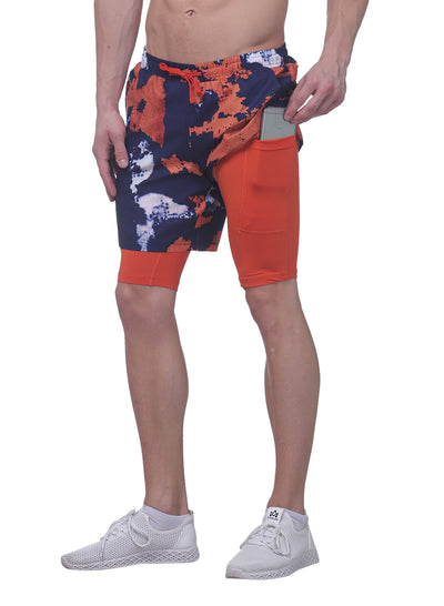 "7"" Shorts With Phone Pocket - Men's Navy Artisan - TRUEREVO"