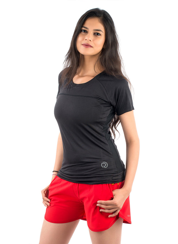 Core Technical Yoga & Training Tee- Black - TRUEREVO