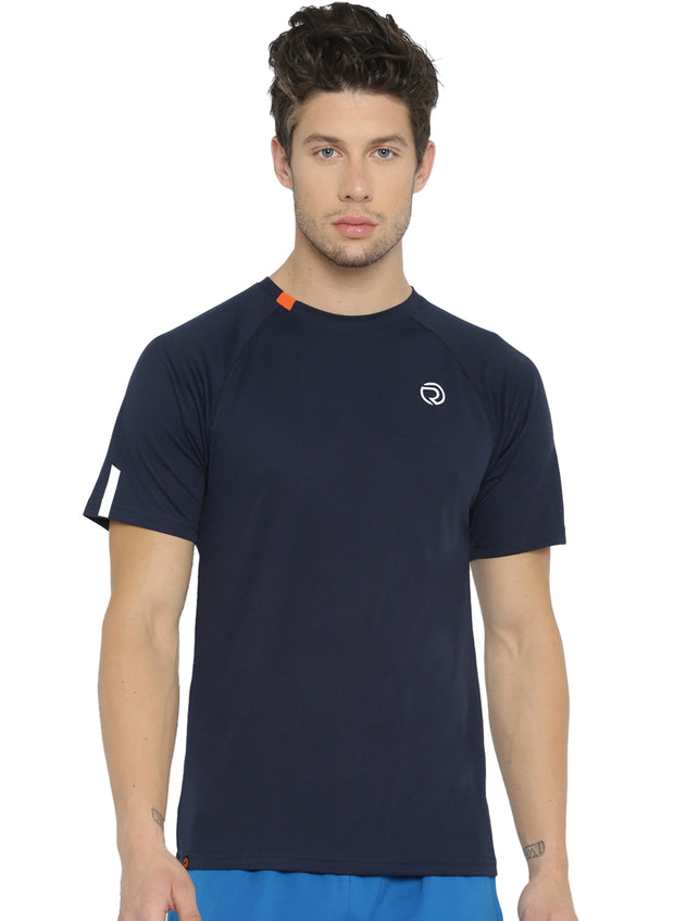Ultra Light Dryfit Running & Training T-shirt - Men's Navy - TRUEREVO