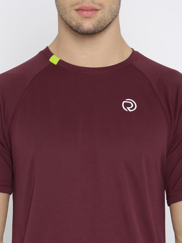 Ultra Light Dryfit Running & Training T-shirt - Men's Maroon - TRUEREVO