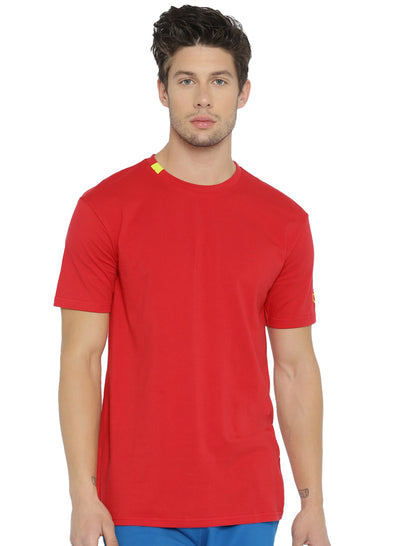 Active Comfy Stretch Cotton Yoga Tshirt - Men's Red - TRUEREVO