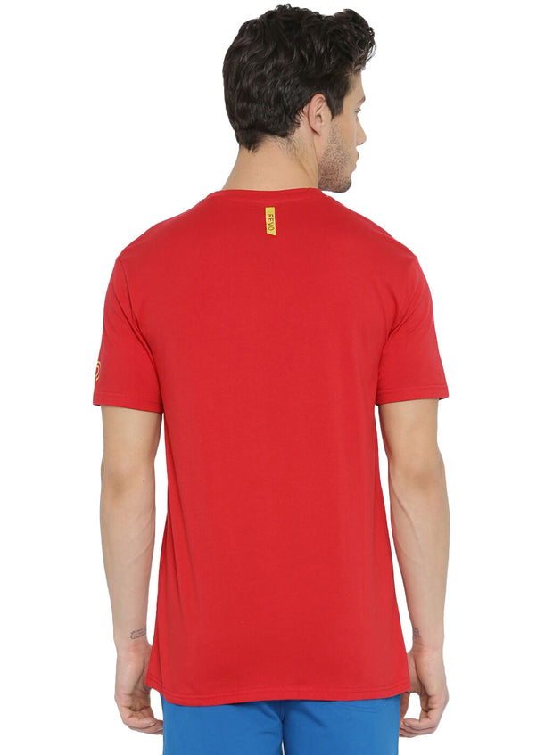 Active Comfy Stretch Cotton Yoga Tshirt - Men's Red