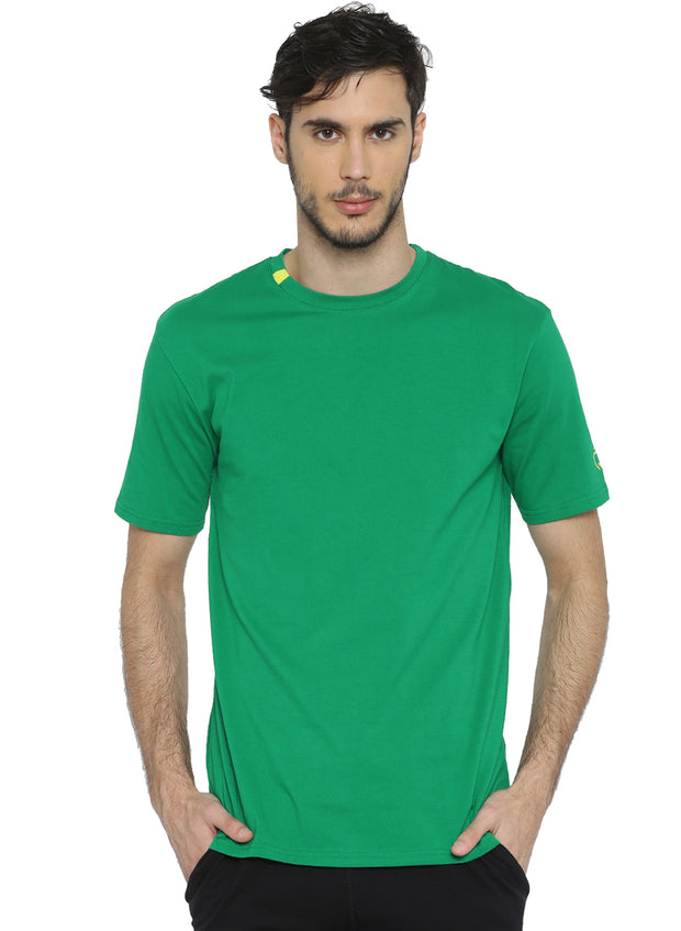 Active Comfy Stretch Cotton Yoga Tshirt - Men's Green - TRUEREVO