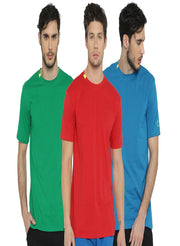 TRUEREVO Men's Stretchy Cotton-Spandex Activewear Tshirt (Pack of 3) - TRUEREVO