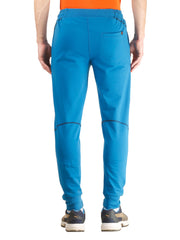 Stretch Cotton SlimFit Activewear TrackPant - Mykonos Blue - TRUEREVO