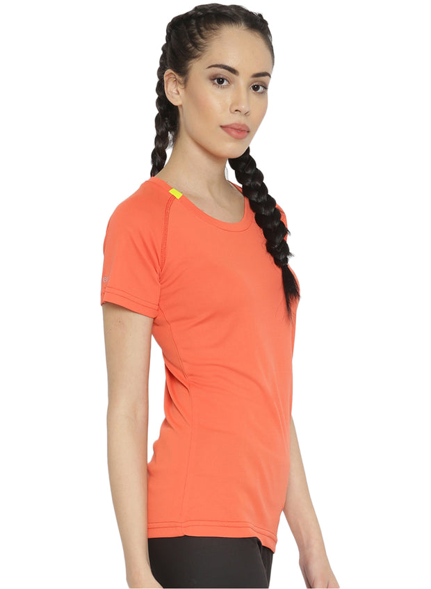 Ultra Light Slim Fit Running & Sports TEE - Women's Peach - TRUEREVO