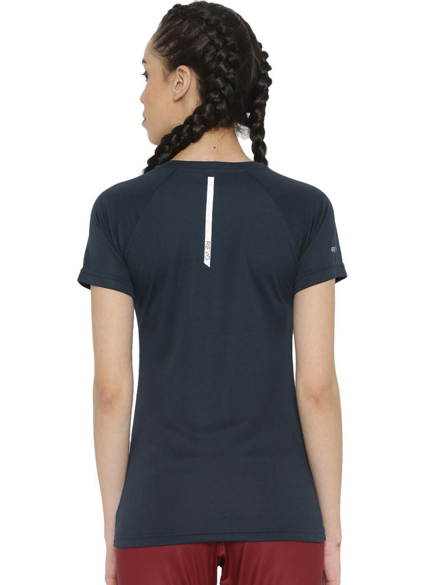 Ultra Light Slim Fit Running & Sports TEE - Women's Navy - TRUEREVO