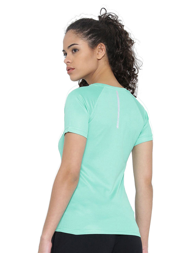 Ultra Light Slim Fit Running & Sports TEE- Women's Sea Green - TRUEREVO