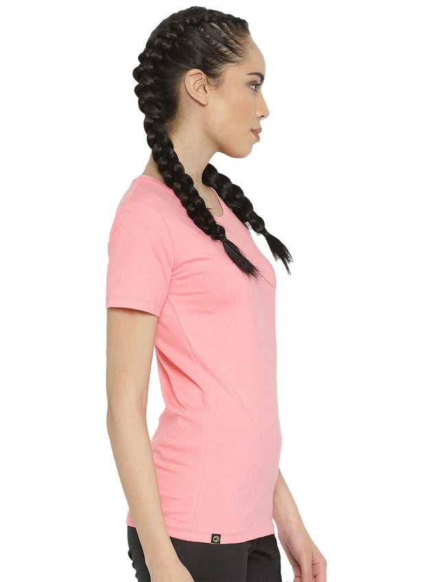 Slim Fit Ultimate Stretch Cotton Tshirt- Women's Pink - TRUEREVO