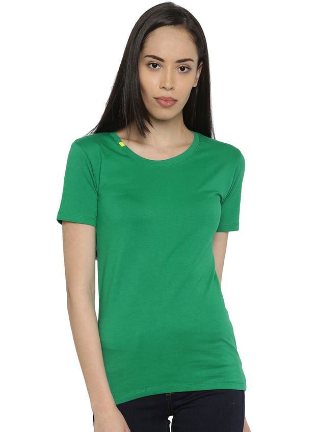 Slim Fit Ultimate Stretch Cotton Tshirt- Women's Green - TRUEREVO