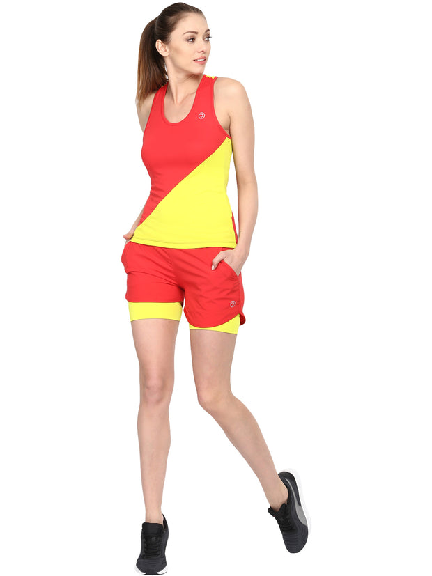 Shorts With Phone Pocket - Women's Red - TRUEREVO