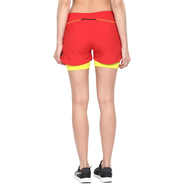 Shorts With Phone Pocket - Women's Red
