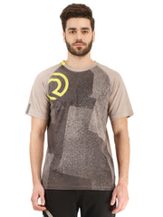 Statement Training & Sports Tshirt- Printed Grey