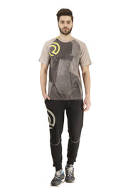 Statement Training & Sports Tshirt- Printed Grey - TRUEREVO
