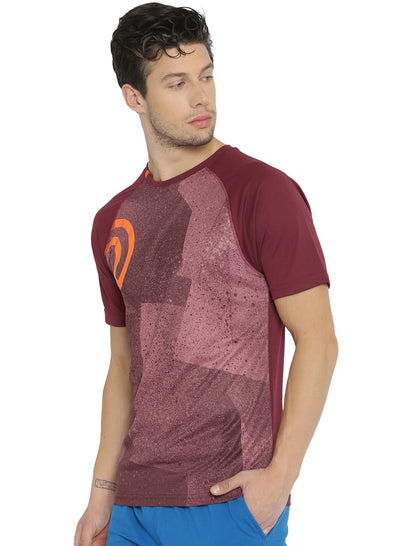 Statement Training & Sports Tshirt- Printed Maroon - TRUEREVO
