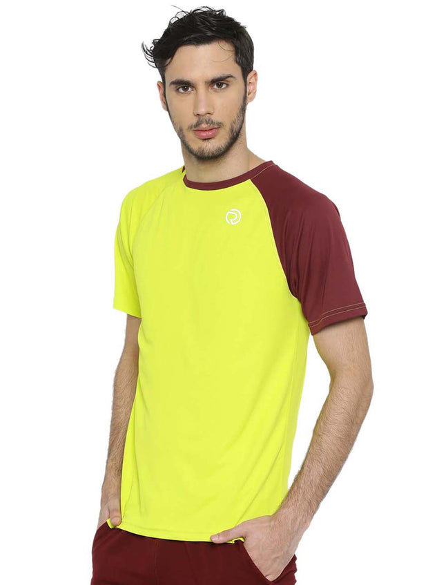 Men's Running, Sports & Active Tshirt- Yellow