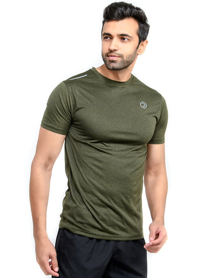 Dry Tech Light Running & Training Tshirt - Anthra Olive - TRUEREVO