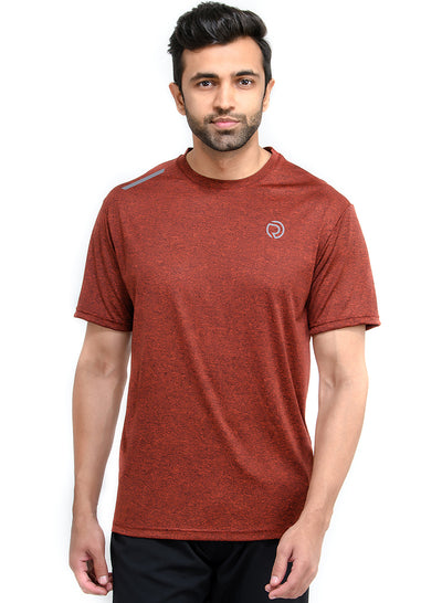 Dry Tech Light Running & Training Tshirt - Anthra RUST - TRUEREVO