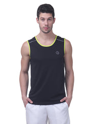 Sports Dry Fit Tank Top Vest for Running & Gym - Men's Black - TRUEREVO